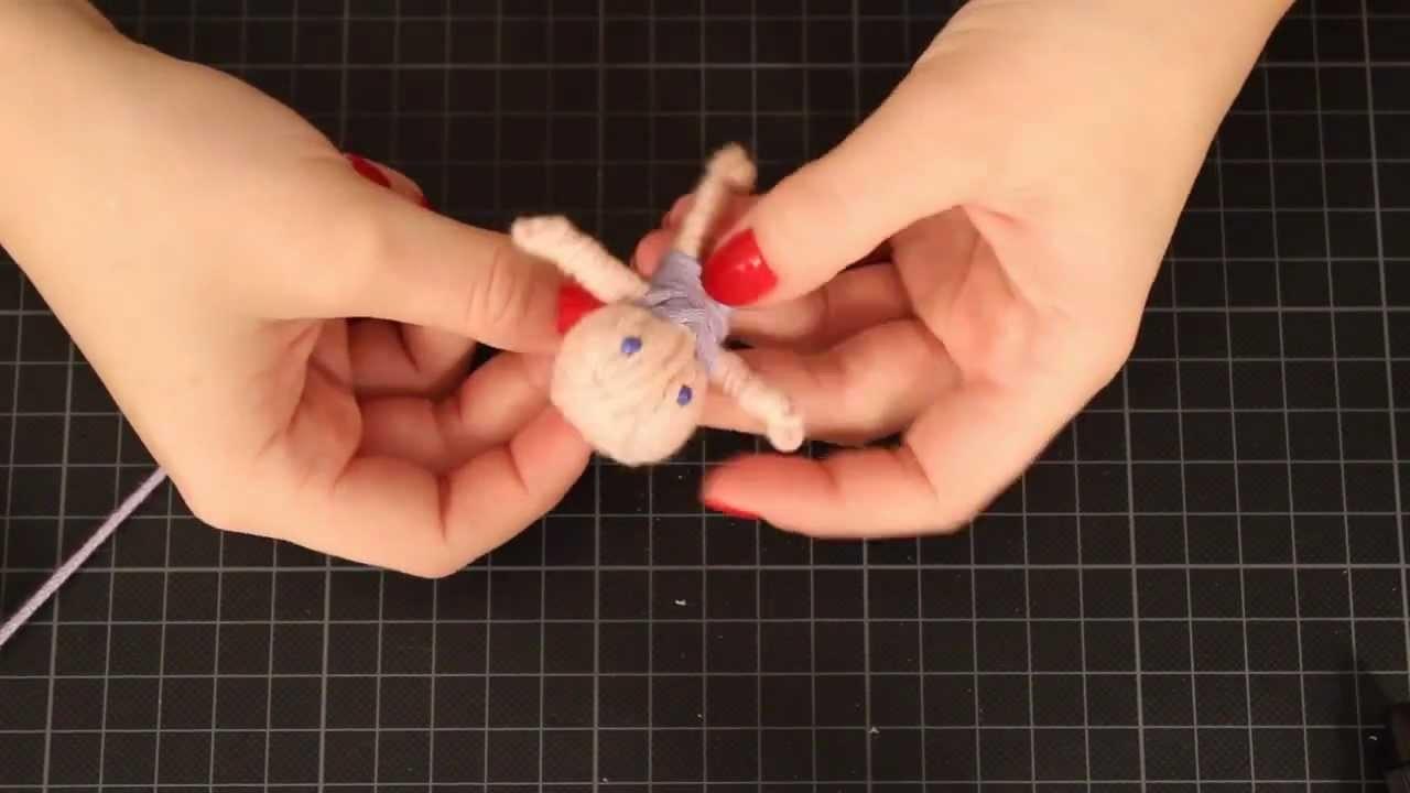 *DIY* Glückspüppchen aus Wolle - Geschenkidee - Wollreste verarbeiten