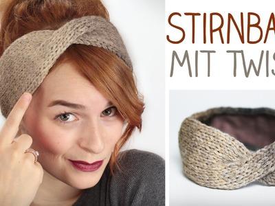 DIY Stirnband mit TWIST stricken für Anfänger u. Modefreaks - gefüttert im Winter - alive4fashion