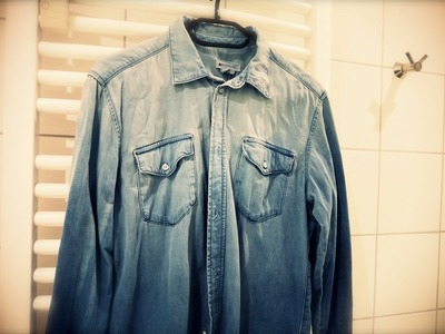Fashion DIY : Ombre Denim Shirt