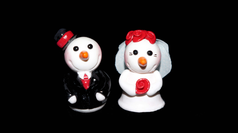FIMO Schneemann: Snowman Polymer Clay - Tutorial [HD.DE] (EN-Sub)
