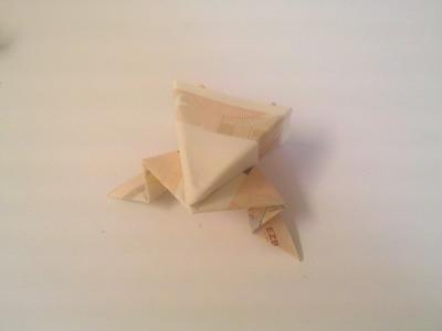Frosch aus Geldschein falten - Origami - kreatives Geldgeschenk