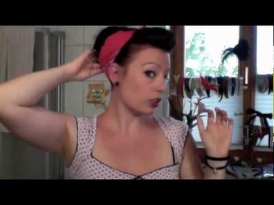 Hair Tutorial, schnelle Pinup-Frisur mit Bandana (deutsch)