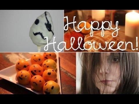 Halloween-Edition - Nutella-Geister-Cake-Pops - Mini Jack O'Lanterns - Kürbisdeko DIY - Episode 18