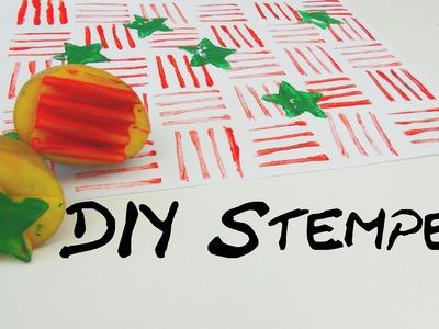 Kartoffelstempel DIY Weihnachtsstempel Tutorial Stempel selber gestalten | deutsch