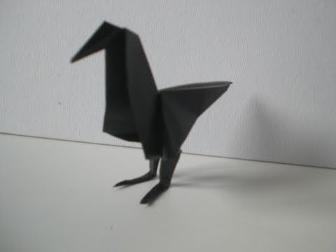 Origami-Anleitung: Rabe