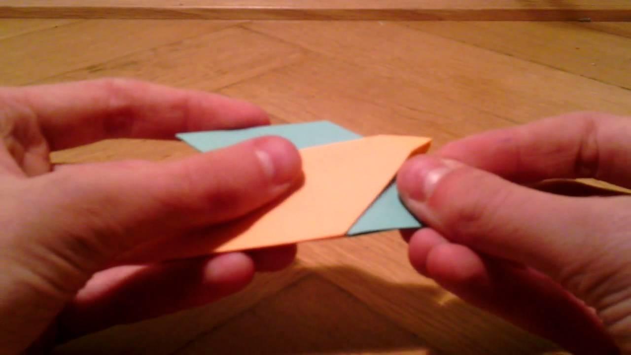 Origami Stern basteln. Origami Ring falten