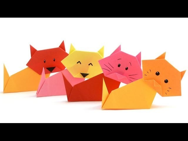 Origami Tiere Falten - #04 Katze (kitten)