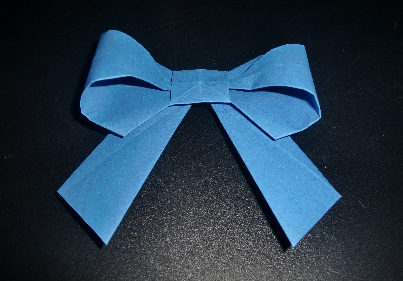 Schleife aus Papier: Origami - PaperART - Faltanleitung [HD.deutsch]