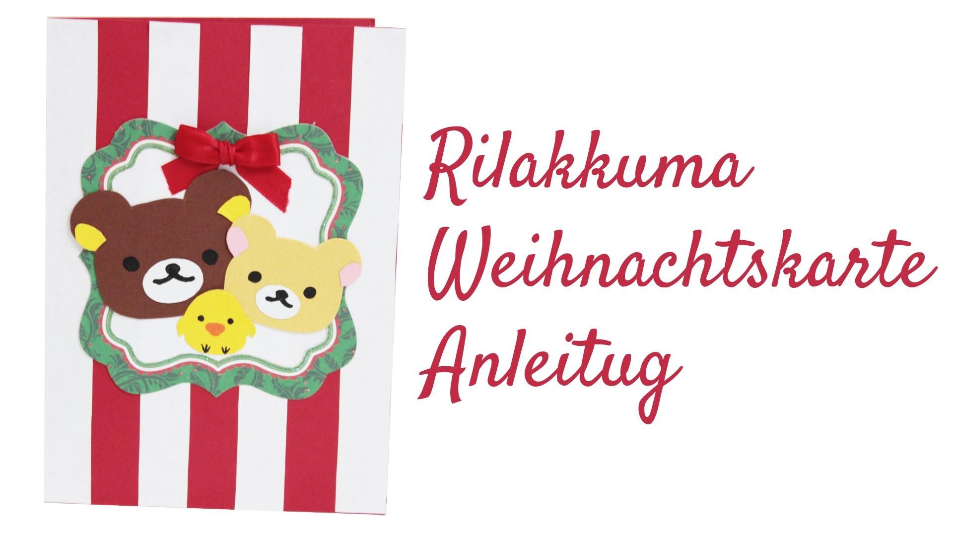 [Scrapbooking] Rilakkuma Weihnachtskarte basteln   Koop mit Mylittle Miniworld