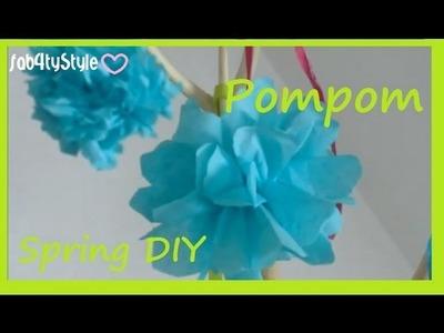 ♡Spring Deko♡ [DIY] - Papierblüten einfach selbermachen - Paper Pompoms easy!