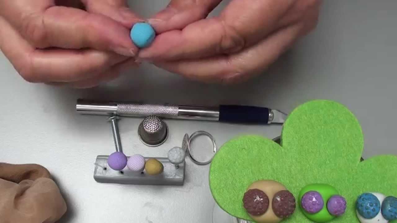 (Tuto Fimo) verschiedene Facettenaugen,Idee von Vroni,Polymer Clay