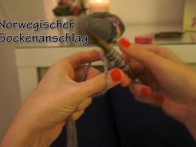 TUTORIAL Stricken - Maschenanschlag: Norwegischer Sockenanschlag [HD]