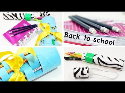 BACK TO SCHOOL - DIY Mäppchen, Pencil Case & Glitter Stifte