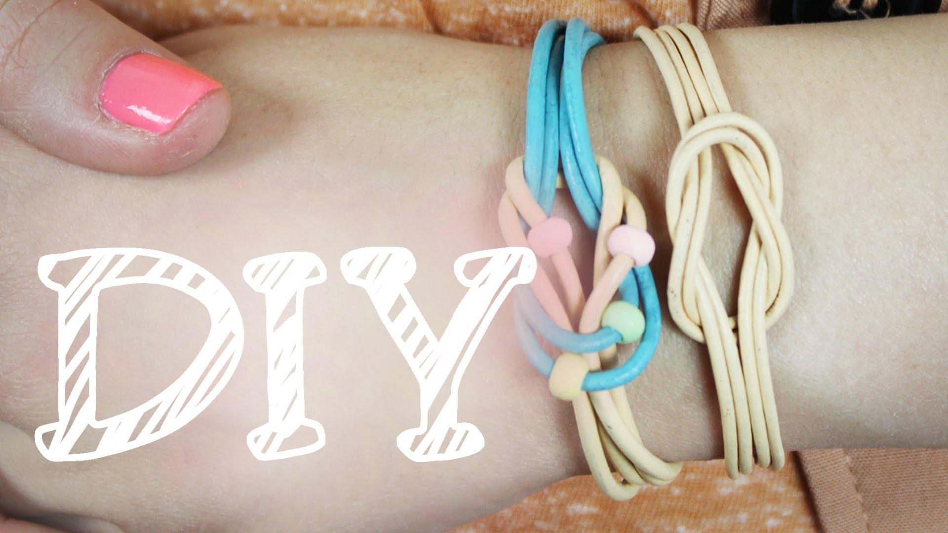 |DIY| Armband & Haarband aus Schlaufen - ganz einfach - Freundschaftsarmband