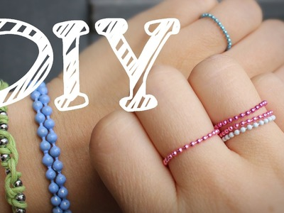 |DIY| Armband und Ring aus Kugelketten - filigran - feminin