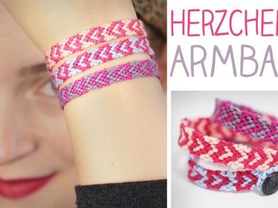 DIY Herzchen Armband knüpfen - Valentinstag - Herz, Geschenk - alive4fashion