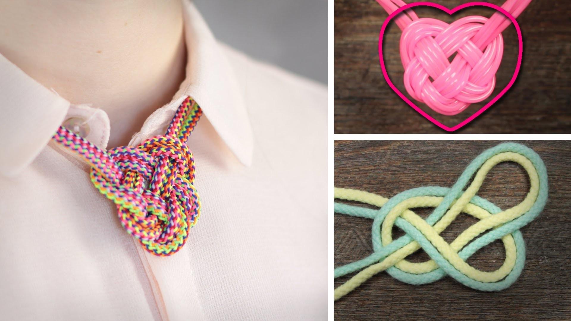 DIY HERZknoten Kette - super einfach - Seemannsknoten