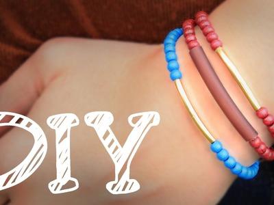 |DIY| Holzperlen-Armband für den Herbst - Gold - super leicht & schnell