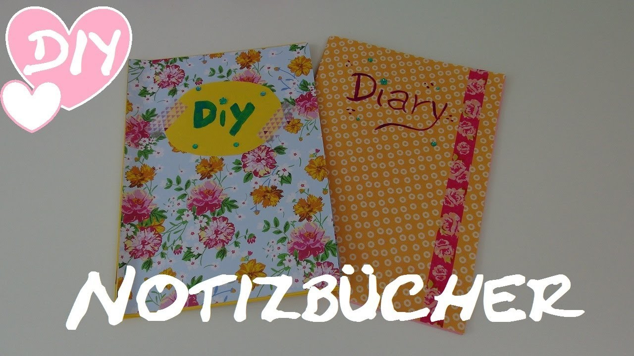 DIY Notizbuch. Tagebuch. Adressbuch selber machen und gestalten