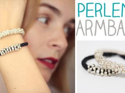 DIY Perlen Armband in Scoubidou Technik?! elegant und schön - leicht   gemacht - alive4fashion