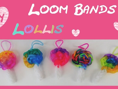 DIY Rainbow Loom Lollipop - Charm. Anhänger (deutsch) + Armband