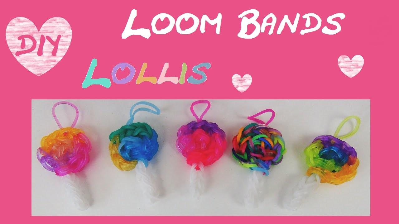 DIY Rainbow Loom Lollipop - Charm. Anhänger (deutsch) + Armband