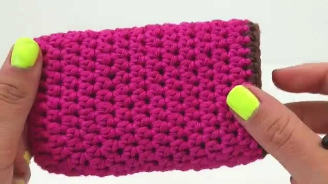 Häkeln Handyhülle Case Handy einfach Samsung iPhone Smartphone pink süß