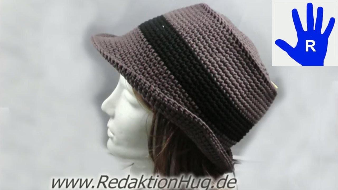 Häkeln - Hut aus hatnut surf  von Pro Lana - Häkelhut - Größe 54 - 58