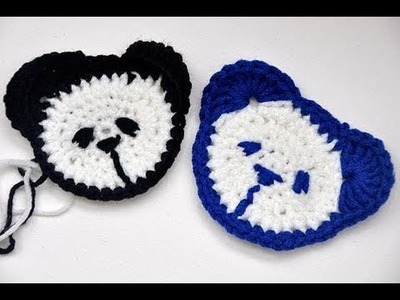 "Häkeln * Teddy Kopf für Kinderpulli ""Panda"""