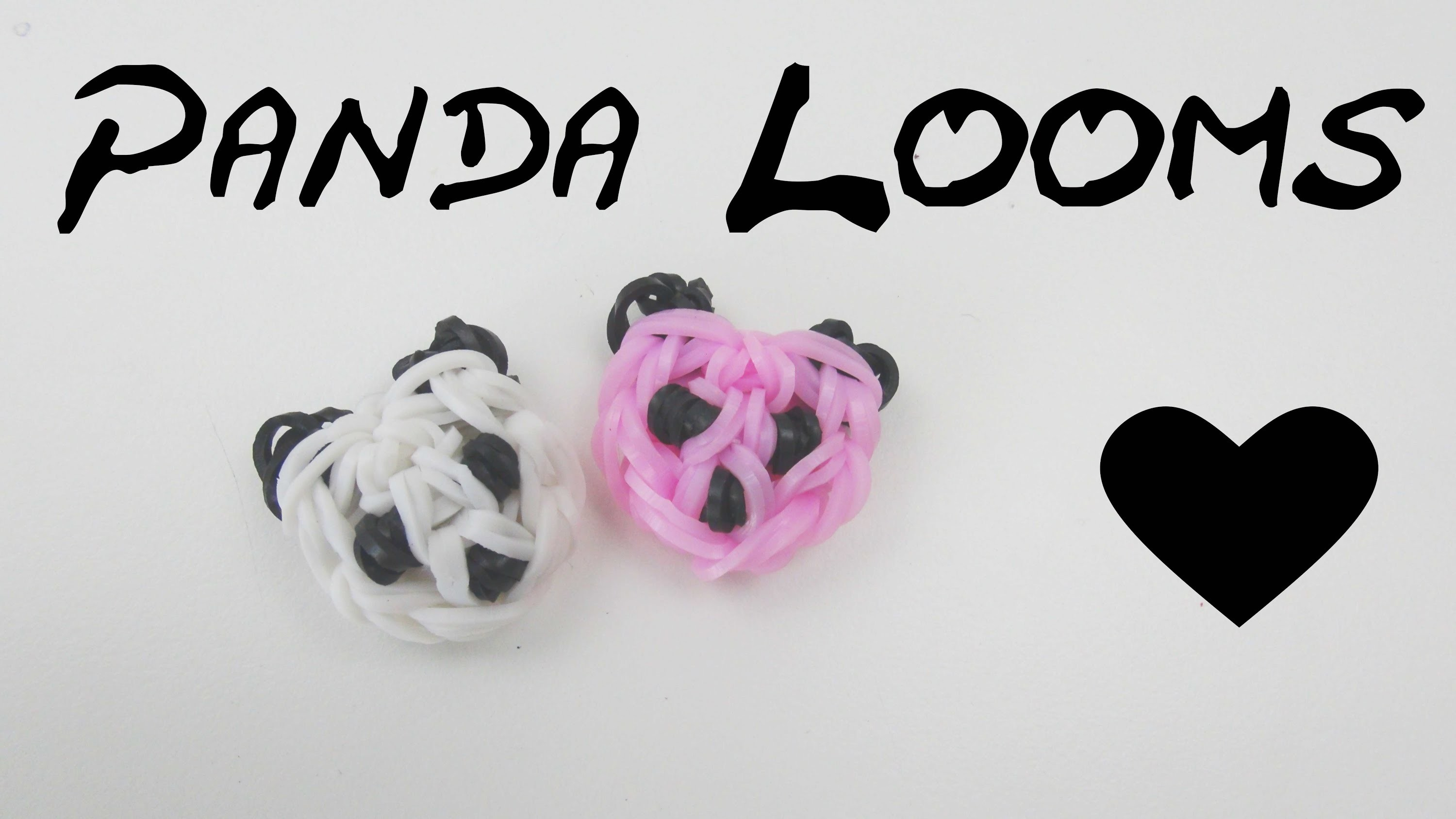 loom bands panda kopf anh nger m h kelnadel u loom board selber machen anleitung deutsch panda. Black Bedroom Furniture Sets. Home Design Ideas