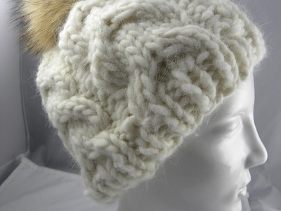 Stricken - Mütze mit Zopfmuster - Veronika Hug