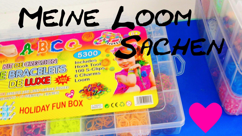 Übersicht über meine Loomsachen | deutsch Loom Bands Box Kits Rubber Bands How to organize