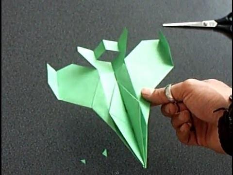 "Papierflieger ""Faita"", Bauanleitung F-16 paper airplane"