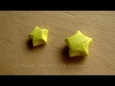 3D Sterne basteln - Bastelideen Weihnachten - Weihnachtssterne