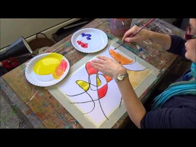 Acrylmalerei erste Schritte  Farben mischen
