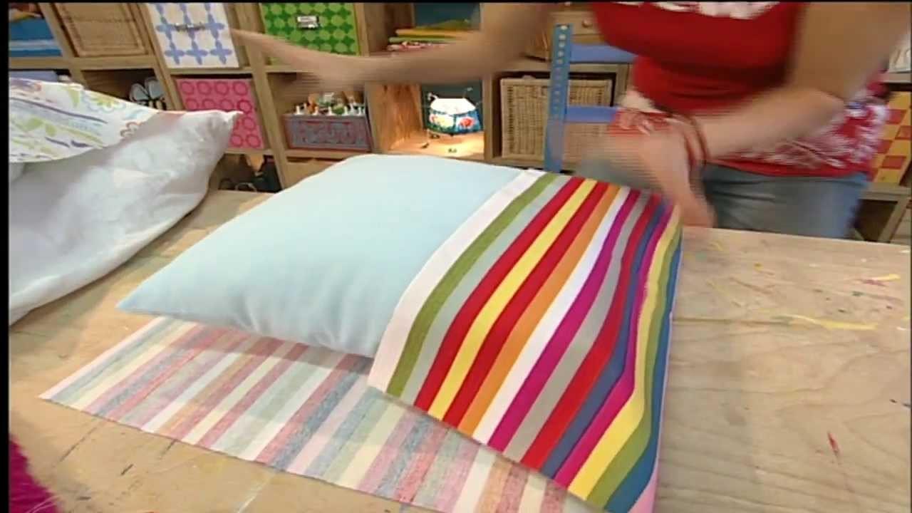 bastelanleitung kissenbez ge ohne rei verschluss oder druckkn pfe n hen gestalten. Black Bedroom Furniture Sets. Home Design Ideas