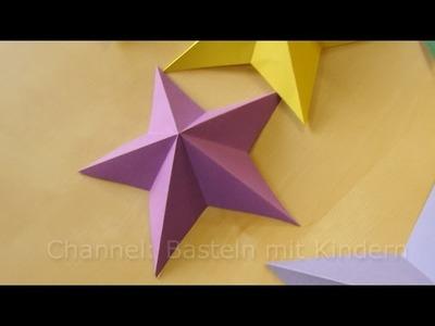 Bastelideen Weihnachten: Weihnachtssterne basteln mit Papier