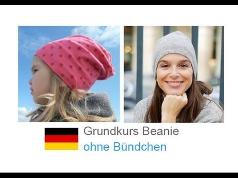 "Beanie Mütze nähen, Kindermütze ""DANIEL_A"" selber nähen - nähen für Anfänger - Teil 2"