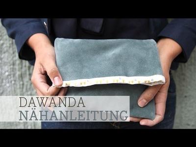 DaWanda Nähanleitung: Clutch Handtasche nähen