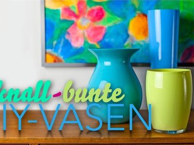 Deko-Trend: Kunterbunte Vasen selbst gestalten! - DIY-Sunday