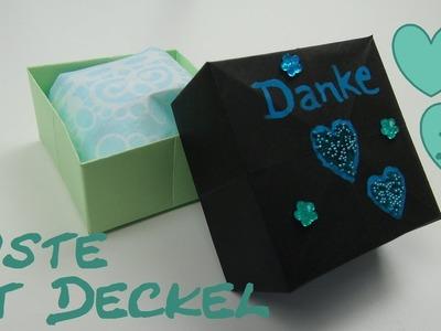 DIY Aufbewahrung. Kästchen. Schachtel. Kiste mit Deckel aus Papier falten