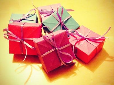DIY Geschenkebox aus Papier basteln
