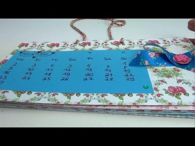 DIY Kalender 2015   Kalender ganz einfach selber machen + VERLOSUNG  GESCHLOSSEN!!   deutsch