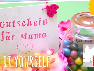 DIY kreative Gutscheine & Karten zum Muttertag