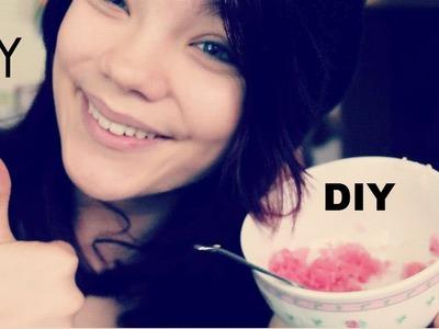 DIY# Lip scrub, maske, make up tutorial und outfit of the day