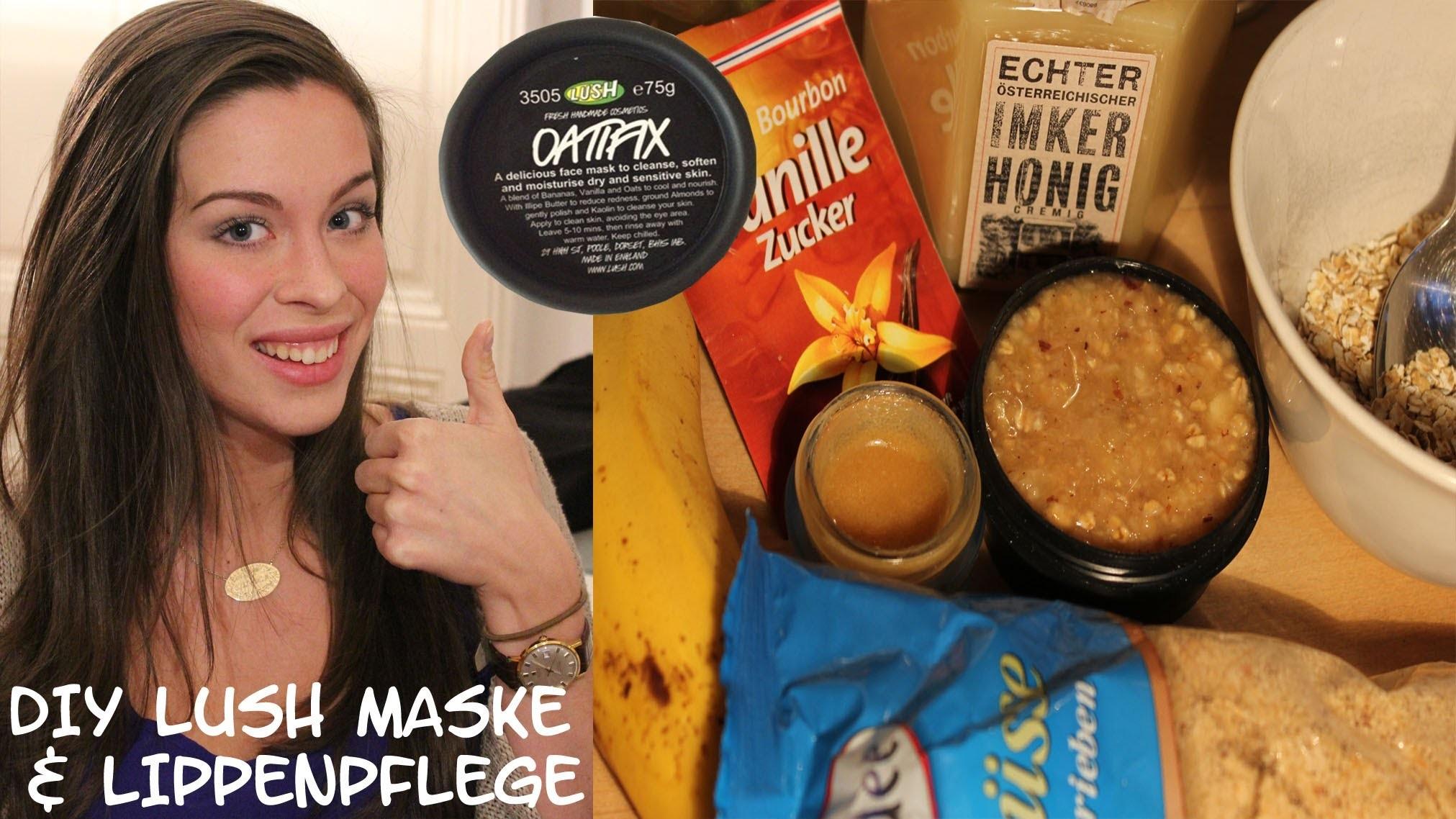 "DIY: LUSH ""Oatifix"" Gesichtsmaske & Lippenpeeling ""Bubblegum"" | Face Mask & Lip Scrub"