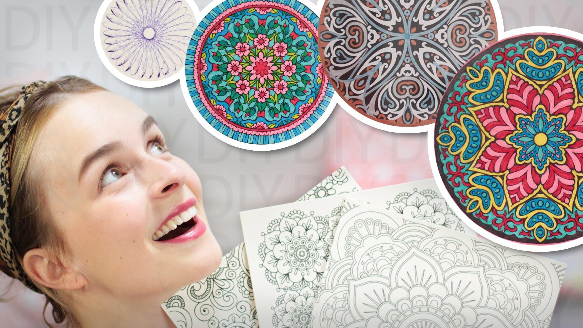 DIY Mandala Inspirationen - Wohn Deko - 4 Varianten