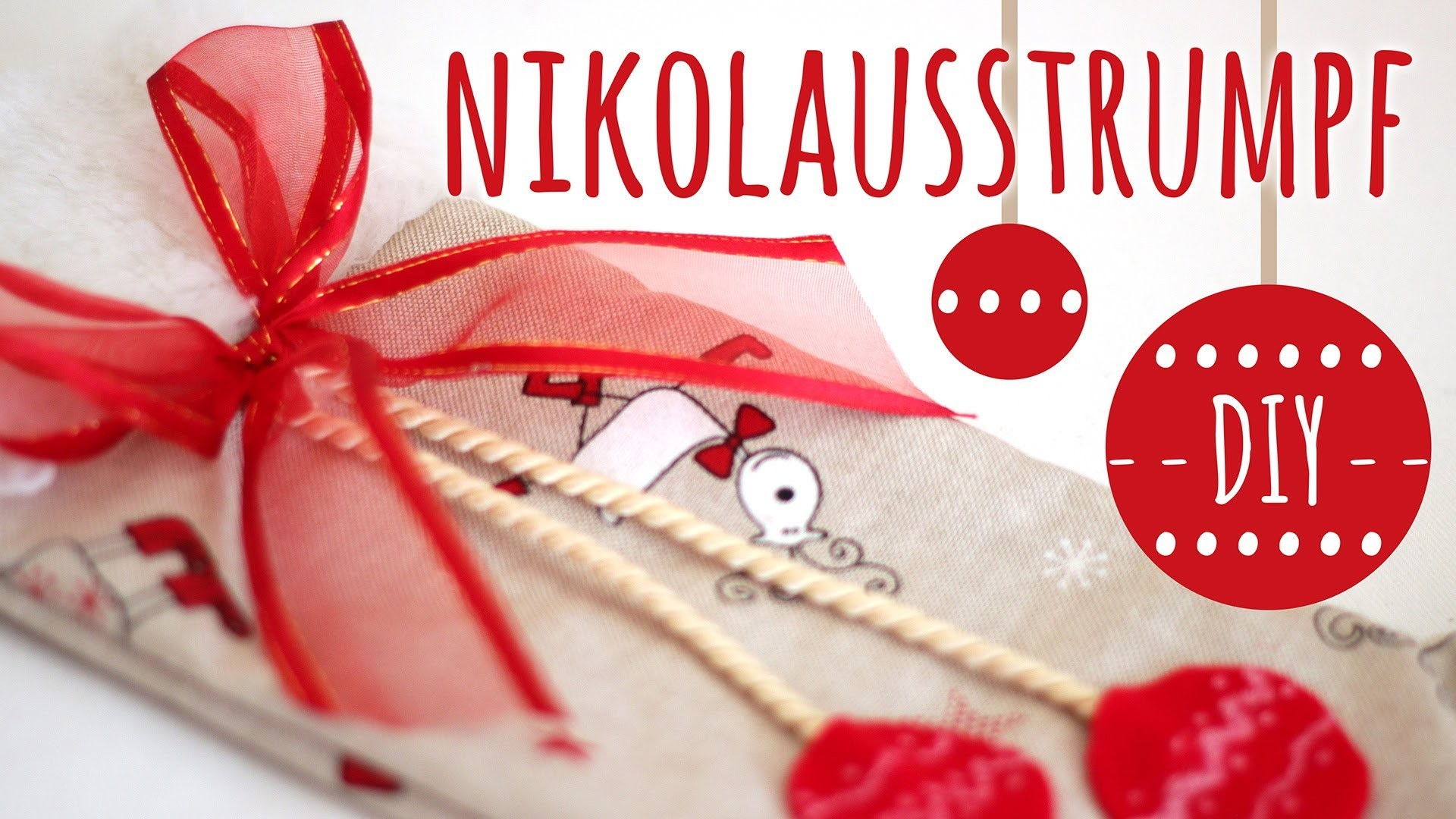 DIY Nikolausstrumpf l Weihnachtsdeko & Geschenkverpackung