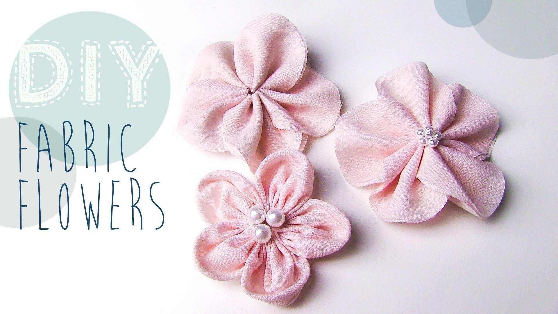 DIY Stoff-Blumen selber machen
