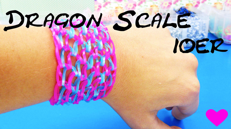 Dragon Scale Rainbow Loom deutsch 10er Drachenschuppen Armband mit KAMM Tutorial | deutsch